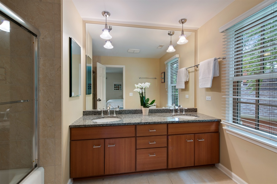 Real Estate Photography - 3004 Indianwood Rd, Wilmette, IL, 60091 - 3rd Bathroom