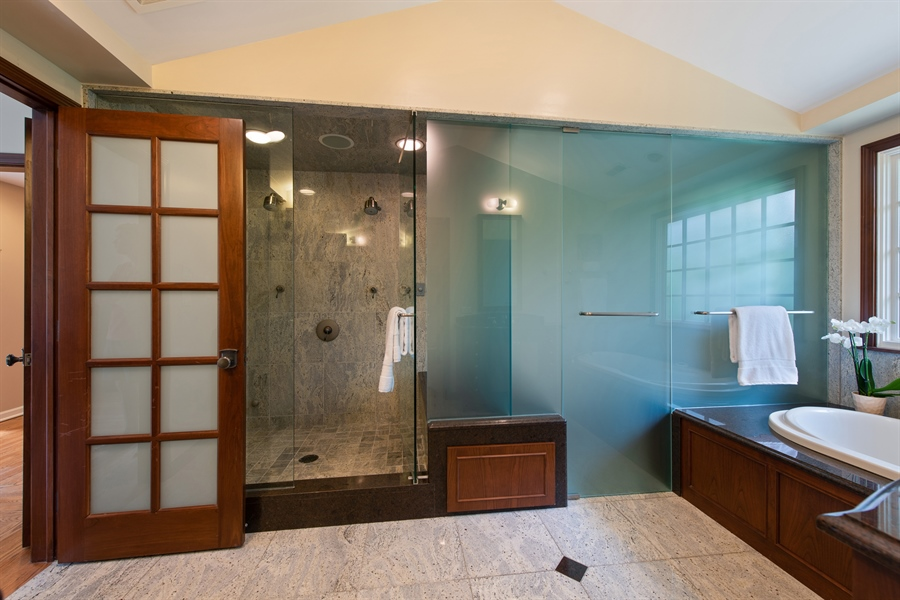 Real Estate Photography - 3004 Indianwood Rd, Wilmette, IL, 60091 - Master Bathroom