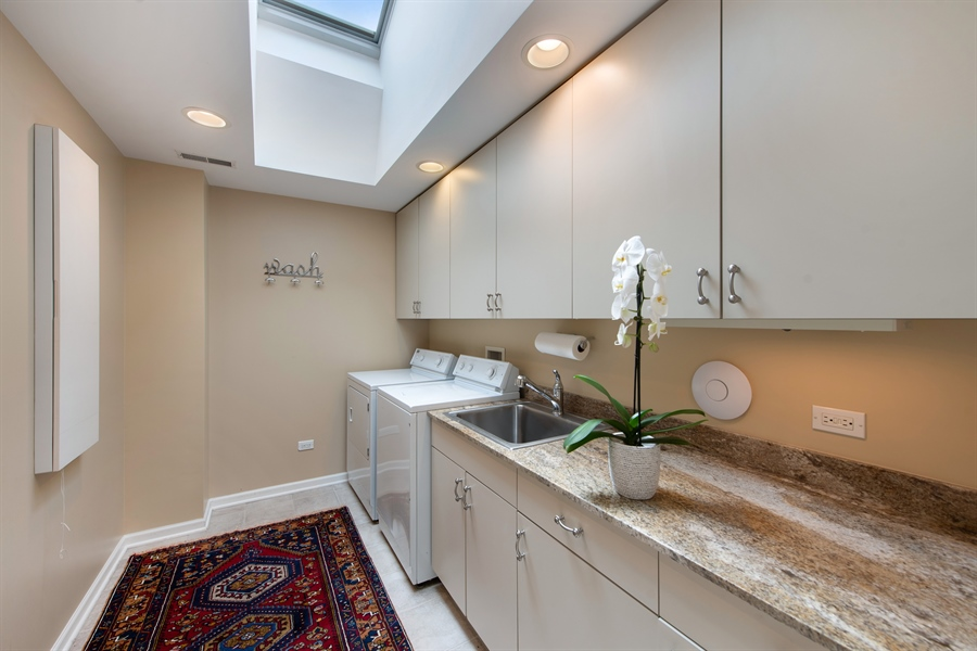 Real Estate Photography - 3004 Indianwood Rd, Wilmette, IL, 60091 - Laundry Room