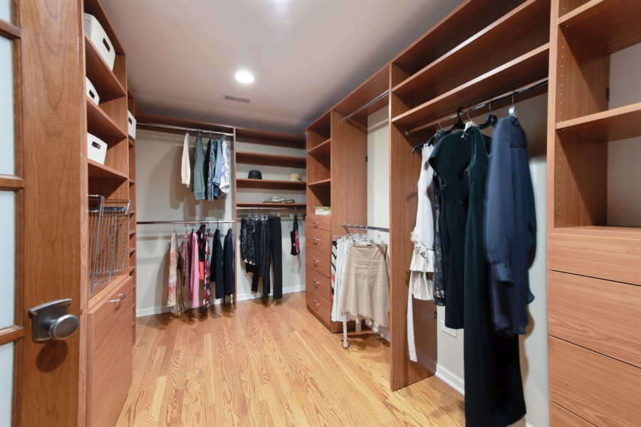 Real Estate Photography - 3004 Indianwood Rd, Wilmette, IL, 60091 - Master Bedroom Closet