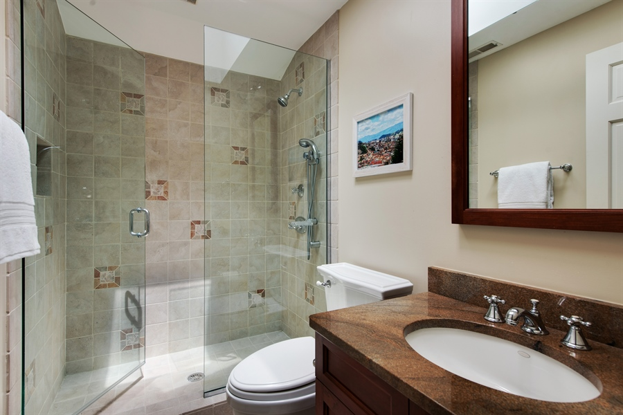Real Estate Photography - 3004 Indianwood Rd, Wilmette, IL, 60091 - 2nd Bathroom