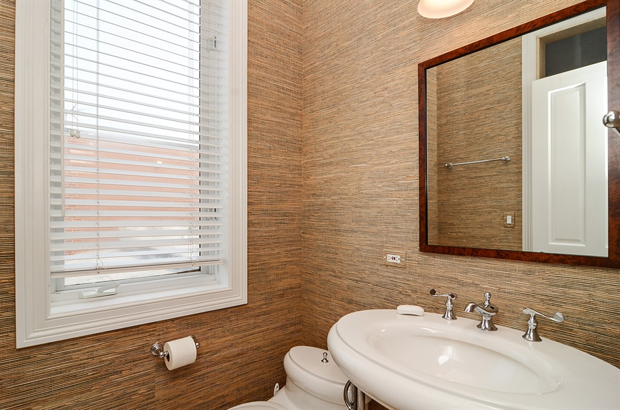 Real Estate Photography - 2226 N. Magnolia, Chicago, IL, 60614 - Powder Room - Fourth Floor