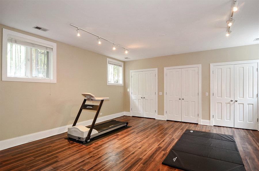 Real Estate Photography - 2226 N. Magnolia, Chicago, IL, 60614 - Lower Level - Fitness Room