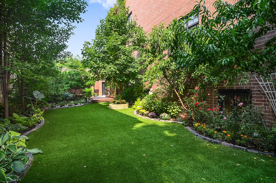Real Estate Photography - 2226 N. Magnolia, Chicago, IL, 60614 - Side Yard with Synthetic Grass