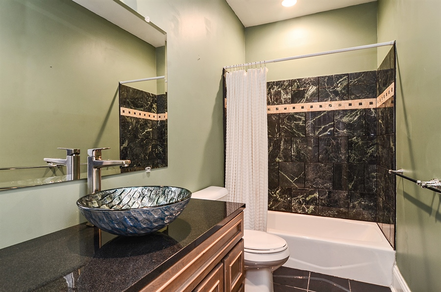 Real Estate Photography - 2226 N. Magnolia, Chicago, IL, 60614 - Third Bathroom - Lower Level