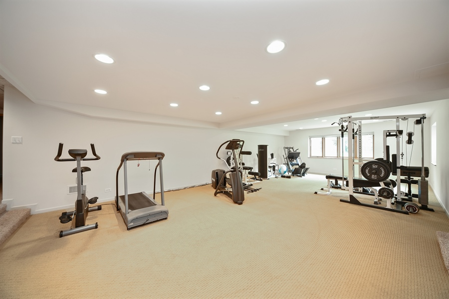 Real Estate Photography - 21727 N Hickory Hill Dr, Kildeer, IL, 60047 - Exercise Room