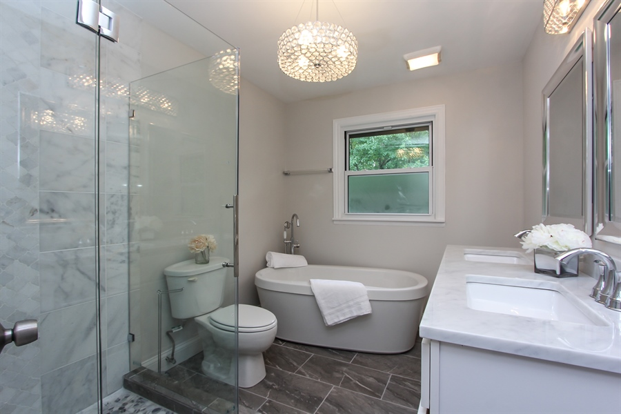 Real Estate Photography - 440 Old Rand Rd, Lake Zurich, IL, 60047 - Master Bathroom