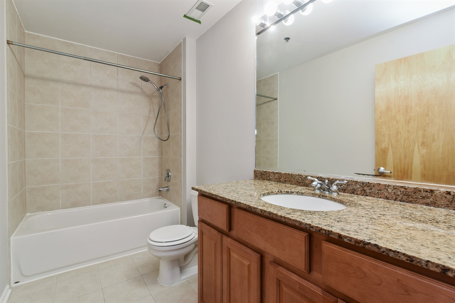 Real Estate Photography - 6 S Laflin, 413, Chicago, IL, 60607 - 2nd Bathroom