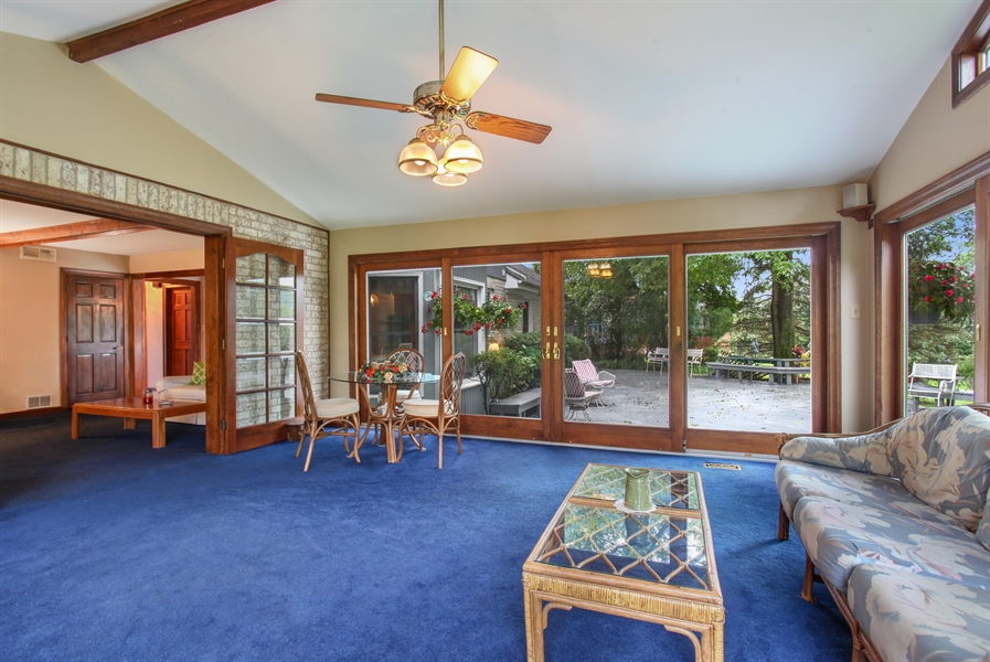 Real Estate Photography - 573 87th st, Burr Ridge, IL, 60527 - Sunroom