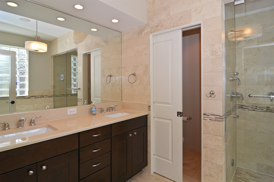 Real Estate Photography - 2848 N Sheffield, 3S, Chicago, IL, 60657 - Master Bathroom