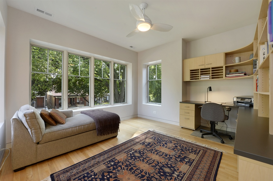 Real Estate Photography - 2550 W Cullom Avenue, Chicago, IL, 60618 - 2nd Bedroom