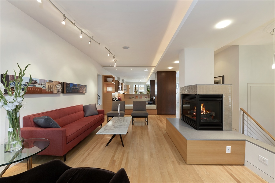 Real Estate Photography - 2550 W Cullom Avenue, Chicago, IL, 60618 - Living Room
