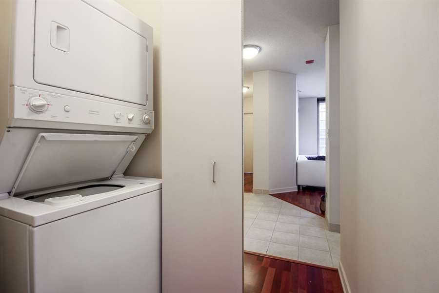 Real Estate Photography - 222 N Columbus, 2809, Chicago, IL, 60601 - Laundry Room
