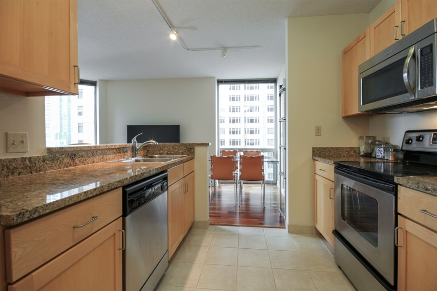 Real Estate Photography - 222 N Columbus, 2809, Chicago, IL, 60601 - Kitchen