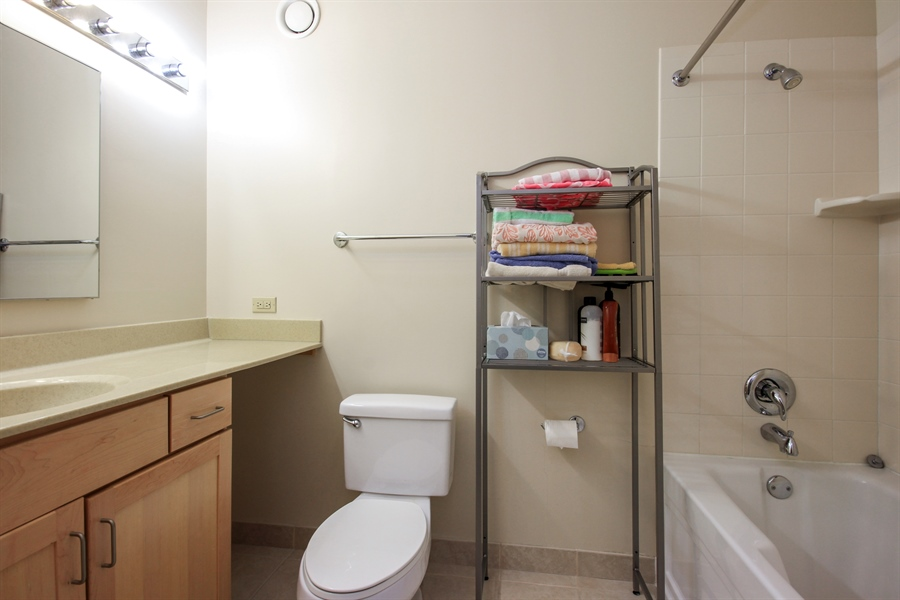 Real Estate Photography - 222 N Columbus, 2809, Chicago, IL, 60601 - Bathroom