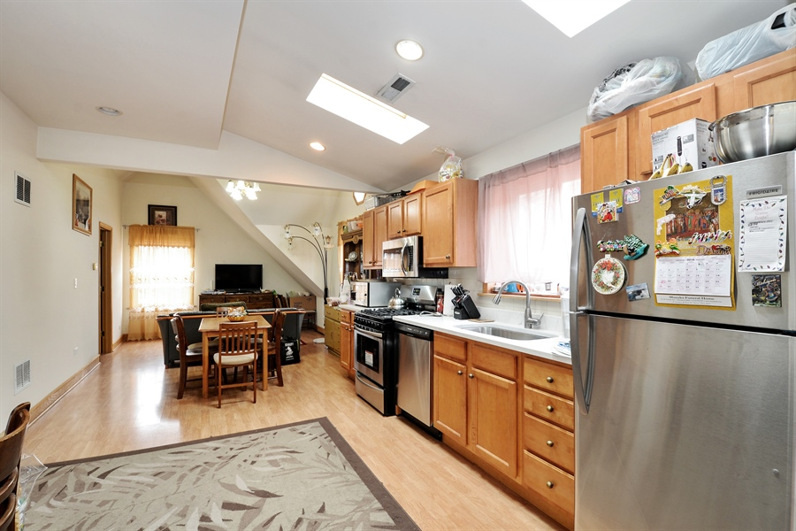 Real Estate Photography - 918 N Mozart, Chicago, IL, 60622 - Unit 3 - Kitchen and dining