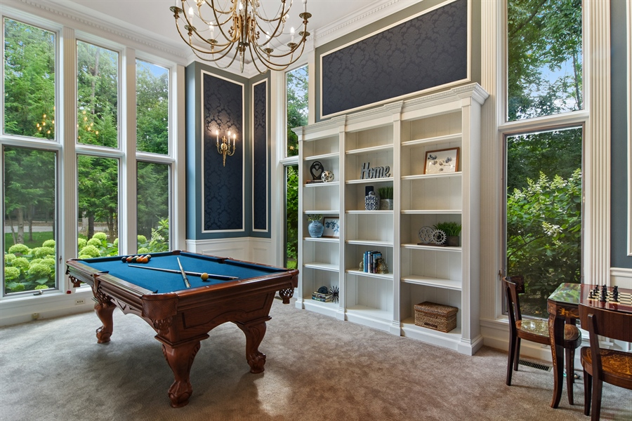 Real Estate Photography - 4741 Wellington, Long Grove, IL, 60047 - Pool Room