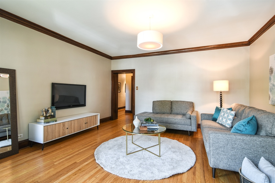 Real Estate Photography - 1655 W Olive Ave, 1W, Chicago, IL, 60660 - Living Room