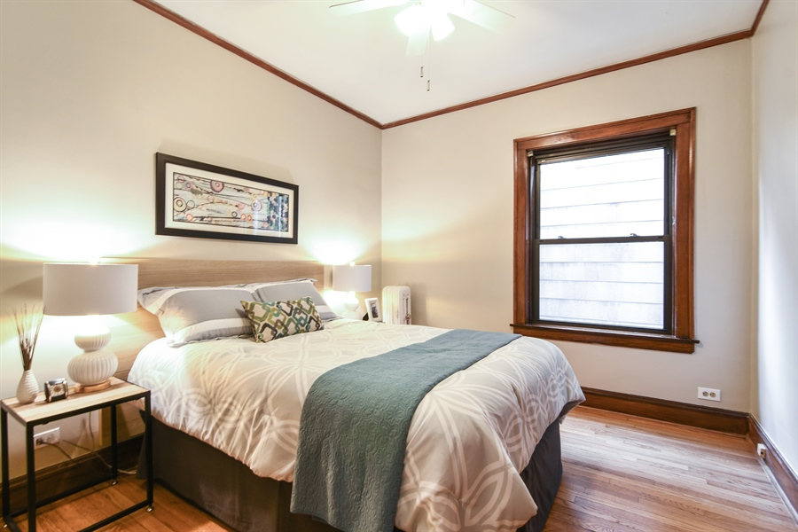 Real Estate Photography - 1655 W Olive Ave, 1W, Chicago, IL, 60660 - Bedroom