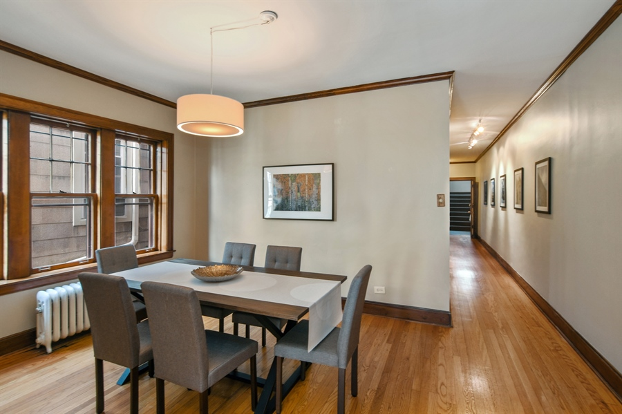 Real Estate Photography - 1655 W Olive Ave, 1W, Chicago, IL, 60660 - Dining Room
