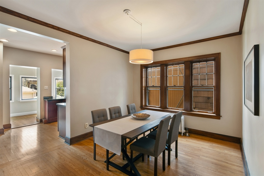 Real Estate Photography - 1655 W Olive Ave, 1W, Chicago, IL, 60660 - Kitchen / Dining Room