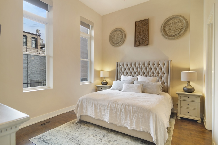 Real Estate Photography - 1522 Cortez St., 1, Chicago, IL, 60642 - Master Bedroom