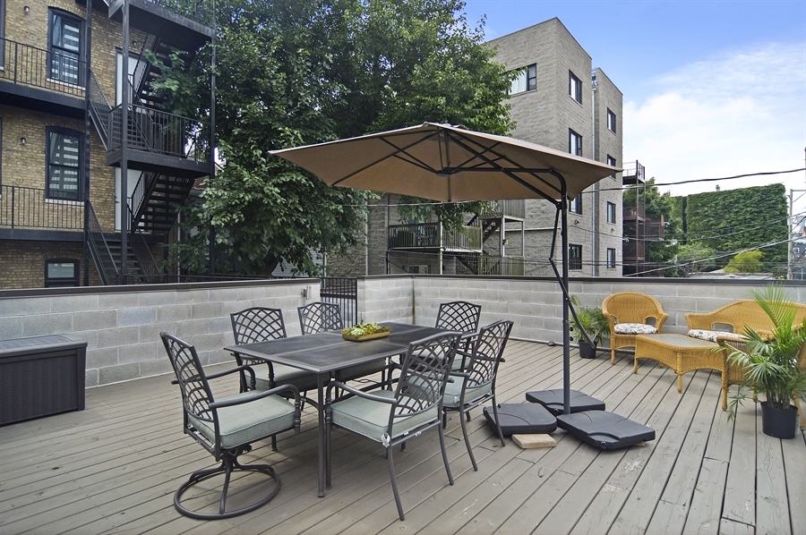 Real Estate Photography - 1522 Cortez St., 1, Chicago, IL, 60642 - Terrace 2
