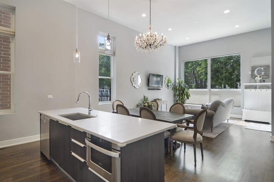 Real Estate Photography - 1522 Cortez St., 1, Chicago, IL, 60642 - Kitchen