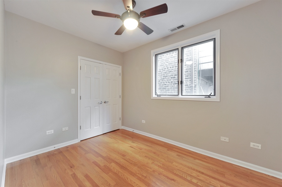 Real Estate Photography - 1012 N. Wood, 2, Chicago, IL, 60622 - 2nd Bedroom