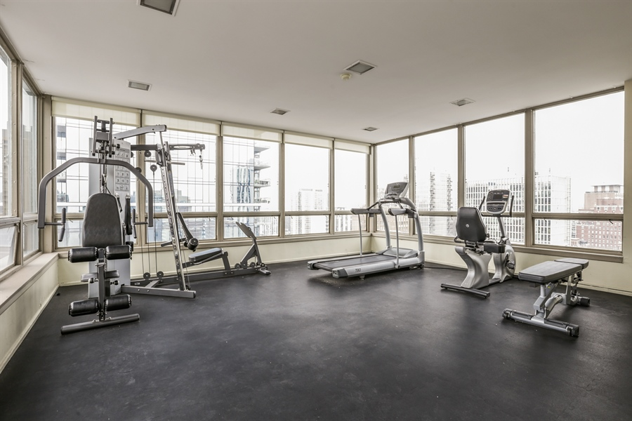 Real Estate Photography - 30 E Elm St, 16C, Chicago, IL, 60611 - Exercise Room