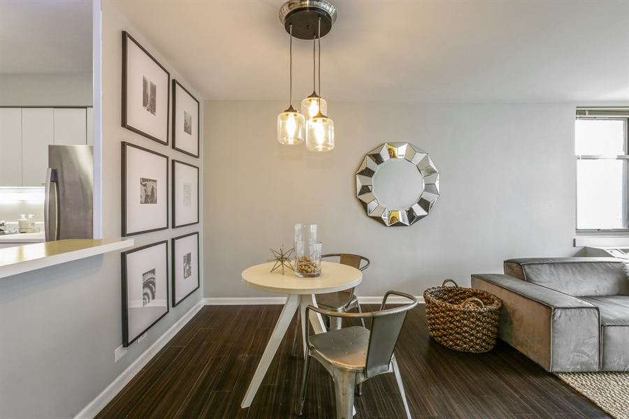 Real Estate Photography - 30 E Elm St, 16C, Chicago, IL, 60611 - Dining Room