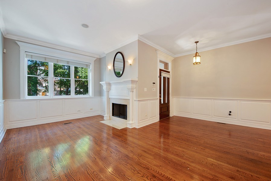Real Estate Photography - 1735 W. Newport Ave, Chicago, IL, 60657 - Formal Living Room