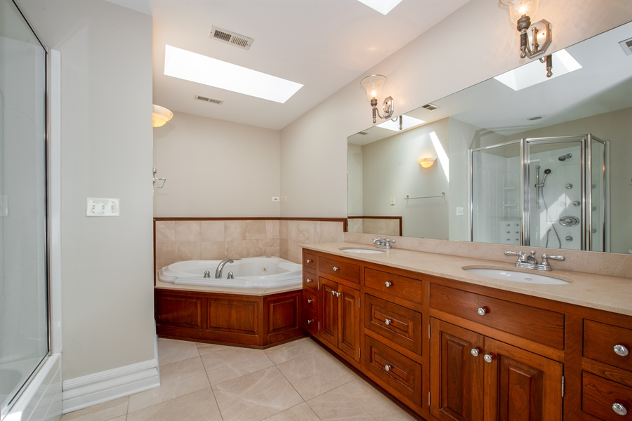 Real Estate Photography - 1735 W. Newport Ave, Chicago, IL, 60657 - Master Bathroom