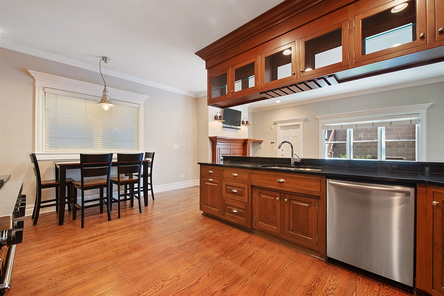 Real Estate Photography - 1735 W. Newport Ave, Chicago, IL, 60657 - Kitchen and Breakfast Area