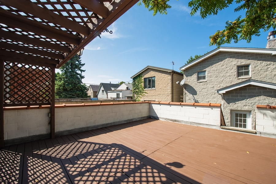 Real Estate Photography - 1735 W. Newport Ave, Chicago, IL, 60657 - Roof Deck on Garage