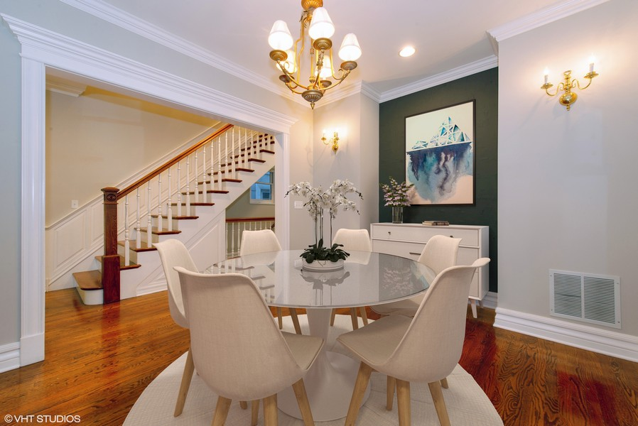 Real Estate Photography - 1735 W. Newport Ave, Chicago, IL, 60657 - Dining Room