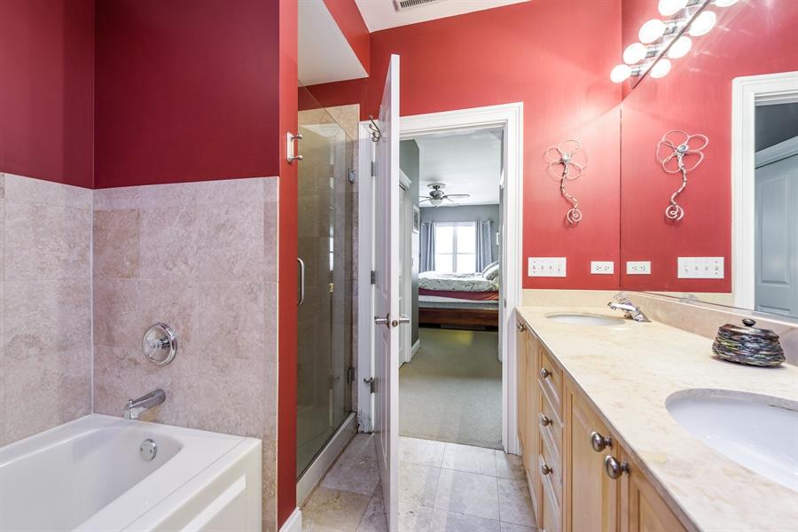 Real Estate Photography - 1811 Addison, unit 3 E, Chicago, IL, 60613 - Master Bathroom