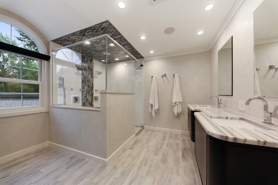 Real Estate Photography - 1352 Cavell, Highland Park, IL, 60035 - Master Bathroom