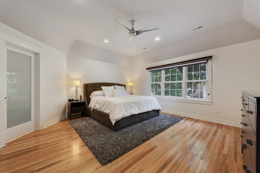 Real Estate Photography - 1352 Cavell, Highland Park, IL, 60035 - Master Bedroom