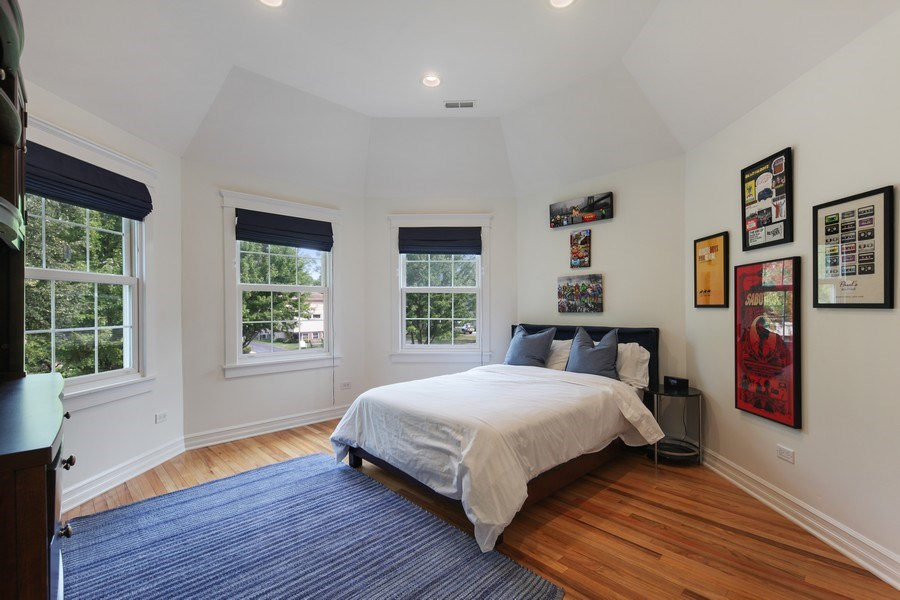 Real Estate Photography - 1352 Cavell, Highland Park, IL, 60035 - 3rd Bedroom