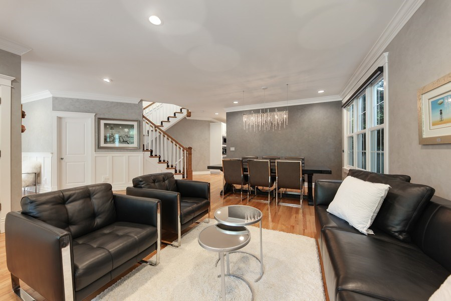 Real Estate Photography - 1352 Cavell, Highland Park, IL, 60035 - Living Room