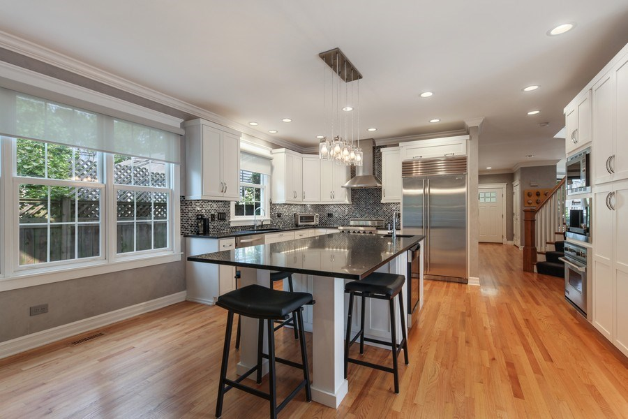 Real Estate Photography - 1352 Cavell, Highland Park, IL, 60035 - Kitchen