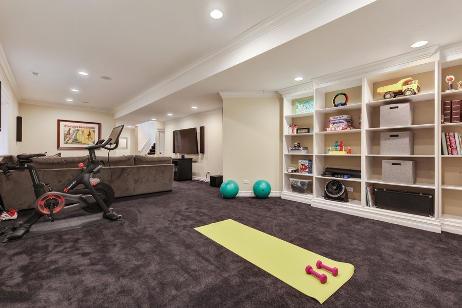 Real Estate Photography - 1352 Cavell, Highland Park, IL, 60035 - Exercise Area