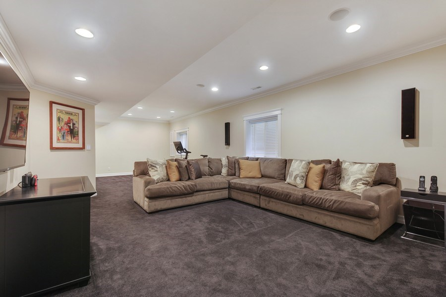 Real Estate Photography - 1352 Cavell, Highland Park, IL, 60035 - Recreational Room