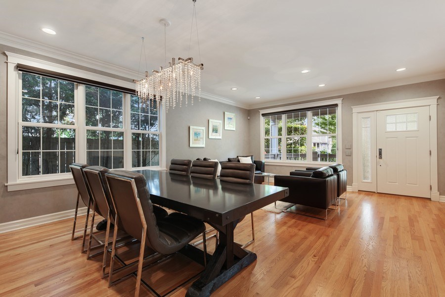 Real Estate Photography - 1352 Cavell, Highland Park, IL, 60035 - Dining Room
