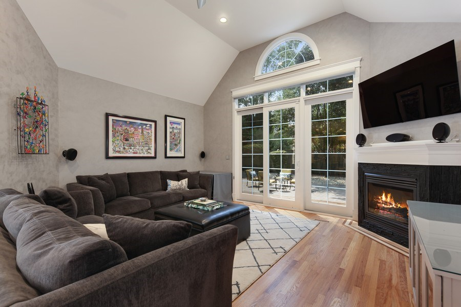 Real Estate Photography - 1352 Cavell, Highland Park, IL, 60035 - Family Room