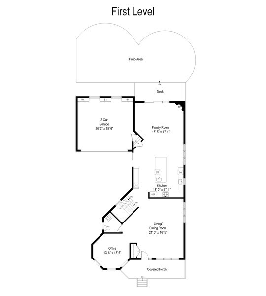 Real Estate Photography - 1352 Cavell, Highland Park, IL, 60035 - Floor Plan
