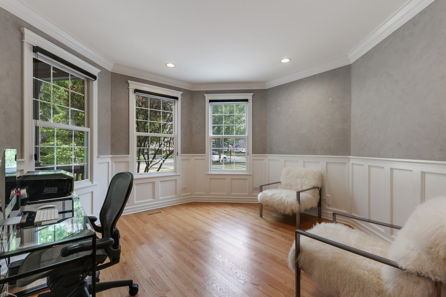 Real Estate Photography - 1352 Cavell, Highland Park, IL, 60035 - First Floor Office