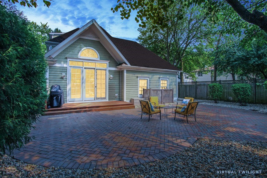 Real Estate Photography - 1352 Cavell, Highland Park, IL, 60035 - Rear View