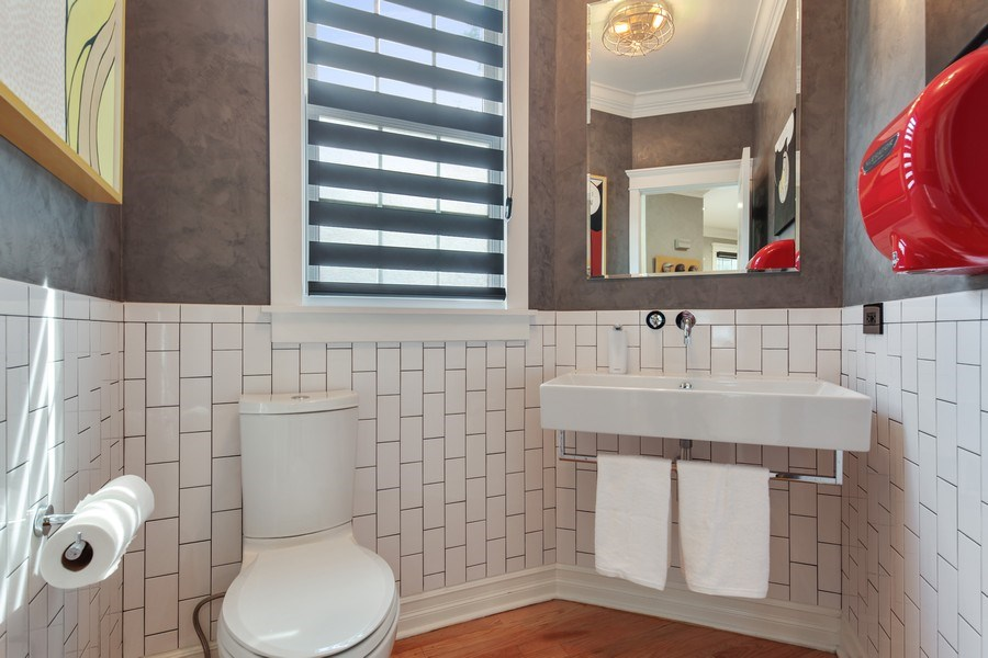 Real Estate Photography - 1352 Cavell, Highland Park, IL, 60035 - Half Bath